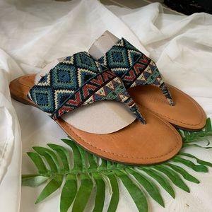 Corso Como Brand New Tribal Print Sandals
